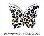 butterflies and leopard... | Shutterstock .eps vector #1863278239