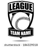 baseball badge icon symbol  eps ... | Shutterstock .eps vector #186329018
