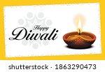 diwali greetings   vector...   Shutterstock .eps vector #1863290473