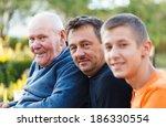 portrait of three generations...   Shutterstock . vector #186330554