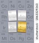 precious metals on periodic... | Shutterstock .eps vector #1863329263