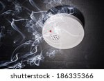 smoke detector in the smoke of... | Shutterstock . vector #186335366