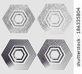 grunge hexagons | Shutterstock .eps vector #186335804