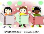 children of different races... | Shutterstock . vector #186336254