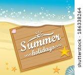 beautiful seaside summer view... | Shutterstock .eps vector #186338264
