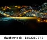 data space. virtual wave series....   Shutterstock . vector #1863387946