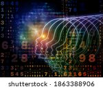 emergence of the mind series.... | Shutterstock . vector #1863388906