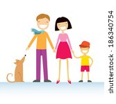 happy family members  parents ... | Shutterstock .eps vector #186340754
