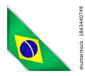 brazil flag. realistic brazil... | Shutterstock .eps vector #1863440749