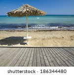 Empty Wooden Boardwalk With...