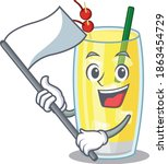 a heroic pina colada cocktail... | Shutterstock .eps vector #1863454729