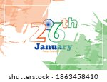 indian republic day concept... | Shutterstock .eps vector #1863458410