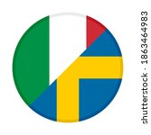 round icon with italy and... | Shutterstock .eps vector #1863464983