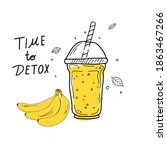 smoothies or detox cocktail day ... | Shutterstock .eps vector #1863467266