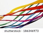 large kite multi colored ribbons