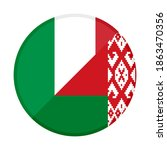 round icon with italy and... | Shutterstock .eps vector #1863470356