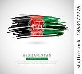 brush flag of afghanistan... | Shutterstock .eps vector #1863472276
