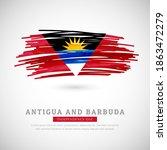 brush flag of antigua and... | Shutterstock .eps vector #1863472279