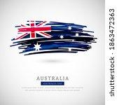 brush flag of australia country.... | Shutterstock .eps vector #1863472363