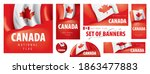 vector set of banners with the... | Shutterstock .eps vector #1863477883