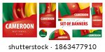vector set of banners with the... | Shutterstock .eps vector #1863477910