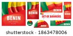 vector set of banners with the... | Shutterstock .eps vector #1863478006