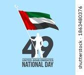 49 united arab emirates flag... | Shutterstock .eps vector #1863480376