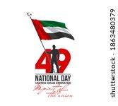 49 united arab emirates flag... | Shutterstock .eps vector #1863480379