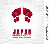 vector graphic of japan emperor'... | Shutterstock .eps vector #1863490090