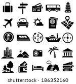 travel icon set of vacation... | Shutterstock .eps vector #186352160