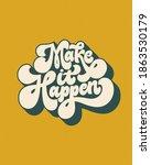 make it happen  hand written... | Shutterstock .eps vector #1863530179