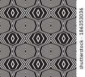 abstract ornate striped... | Shutterstock .eps vector #186353036