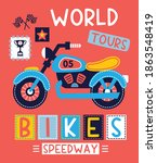 world tours  bike  speedway ... | Shutterstock .eps vector #1863548419