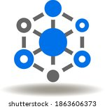 antioxidant molecule icon... | Shutterstock .eps vector #1863606373