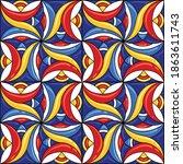 ceramic tile pattern. gorgeous... | Shutterstock .eps vector #1863611743