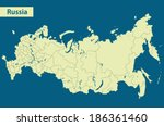map of russia | Shutterstock .eps vector #186361460