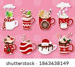 collection of stickers with... | Shutterstock .eps vector #1863638149