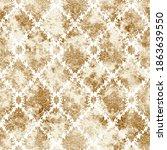 geometric damask seamless... | Shutterstock . vector #1863639550
