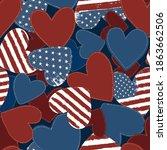 american flag grunge symbol on... | Shutterstock .eps vector #1863662506