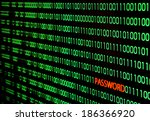 binary code with password text... | Shutterstock . vector #186366920