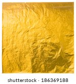 gold leaf isolated on a white... | Shutterstock .eps vector #186369188
