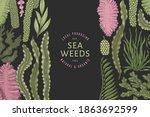 seaweed color design template.... | Shutterstock .eps vector #1863692599