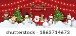 merry christmas and happy new... | Shutterstock .eps vector #1863714673