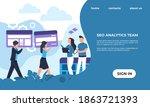 seo analytics team landing page.... | Shutterstock .eps vector #1863721393