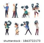 mental disorder. cartoon... | Shutterstock .eps vector #1863722173