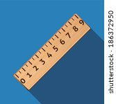 flat ruler icon with long shadow
