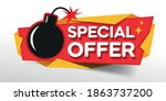 special offer banner. banners... | Shutterstock .eps vector #1863737200