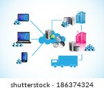 vector illustration of online... | Shutterstock .eps vector #186374324