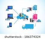 vector illustration of online... | Shutterstock .eps vector #186374324
