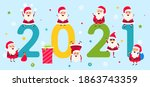 happy new year 2021  collection ...   Shutterstock . vector #1863743359